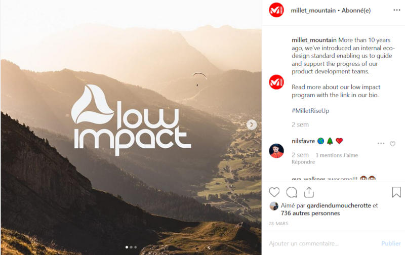 Millet Low Impact Instagram